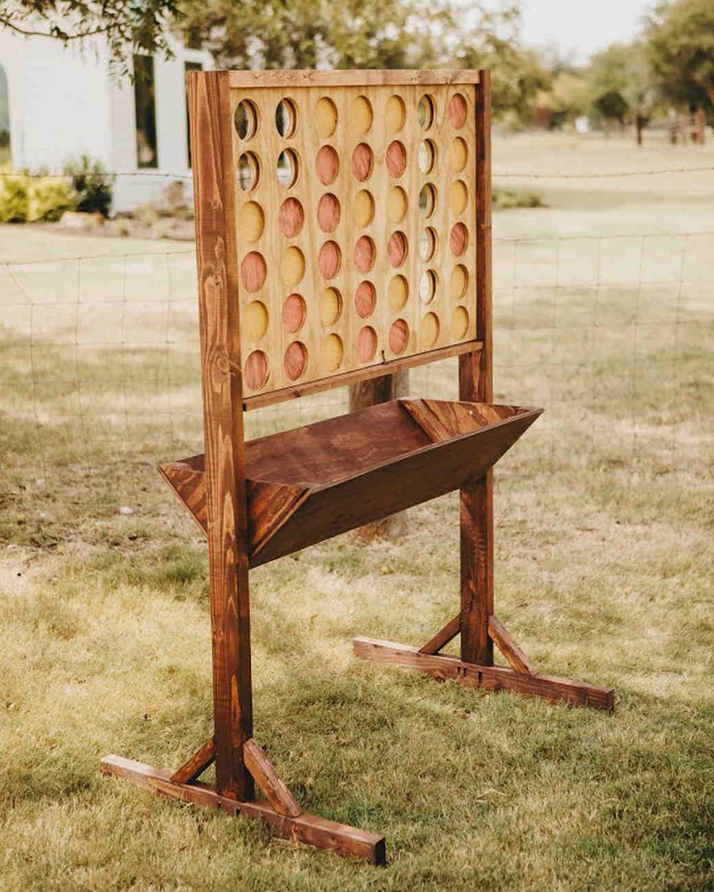 summer reception ideas connect four
