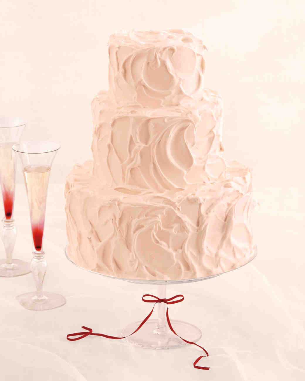 Champagne Cake With Black Currant Swiss Meringue Ercream And Red