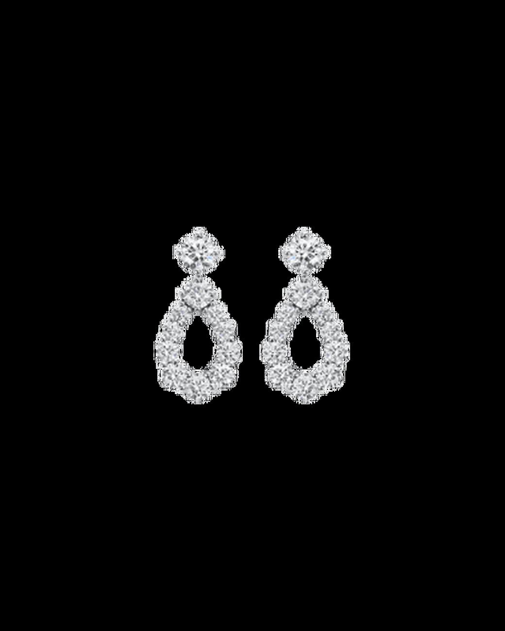 "Wedding Earrings for Every Bride, Harry Winston ""Diamond Loop"" Earring"