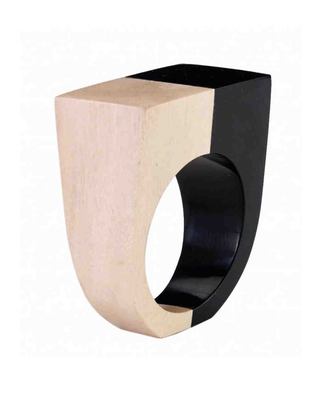 wood anniversary gift napkin ring
