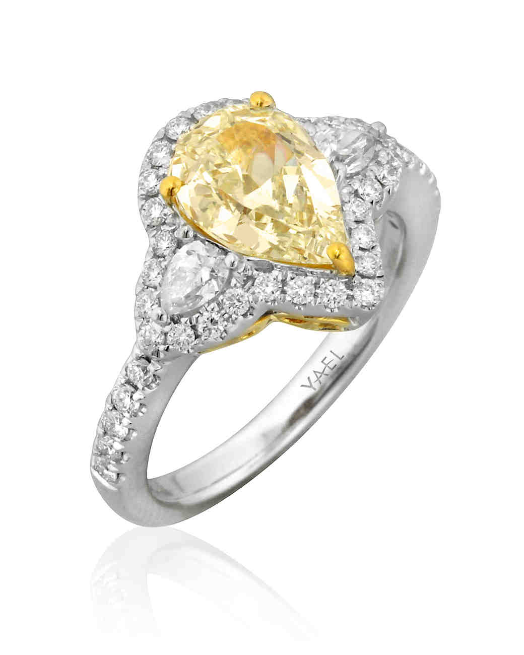 Yael Designs Pear-Cut Engagement Ring