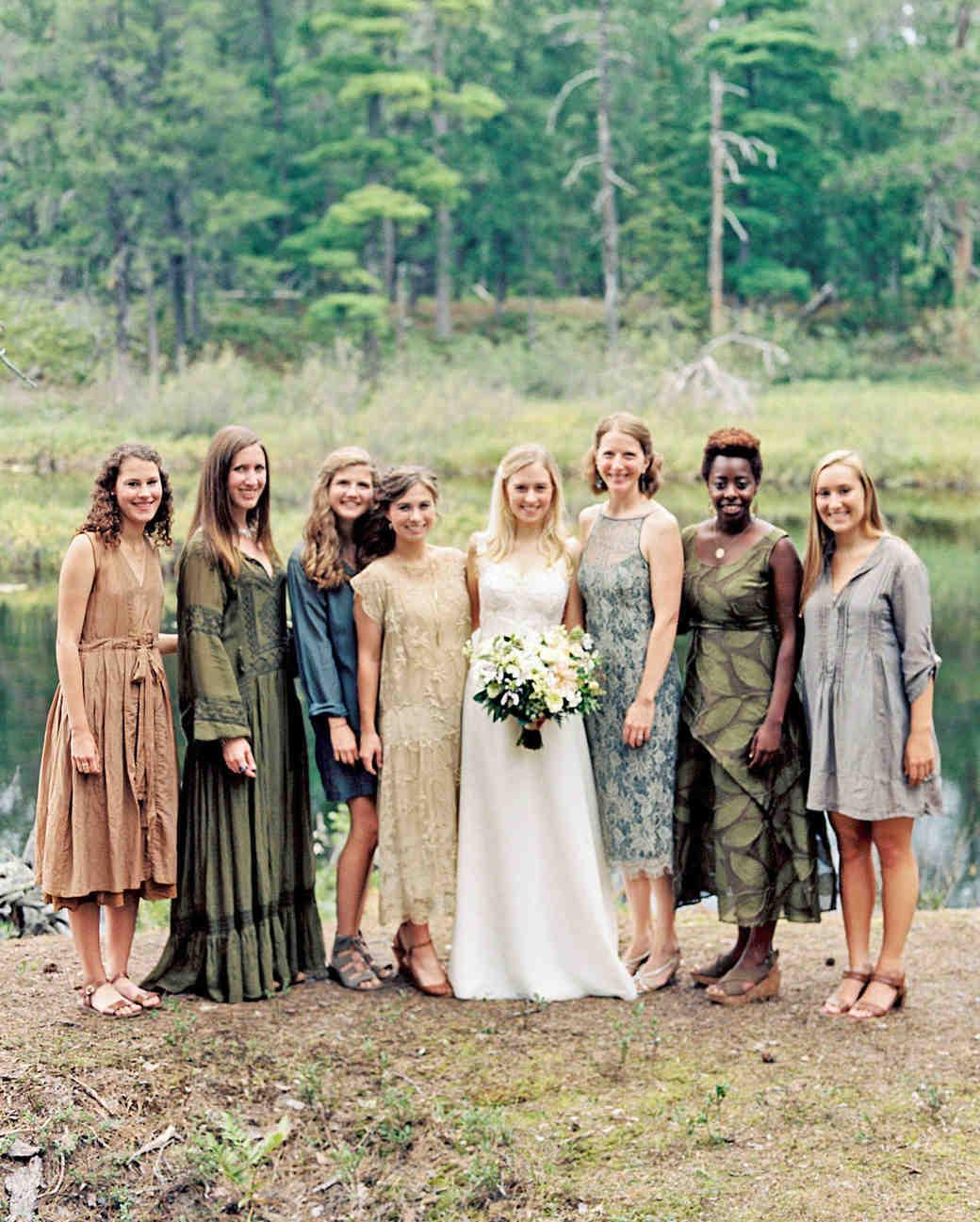 adele seth wedding michigan bridesmaids