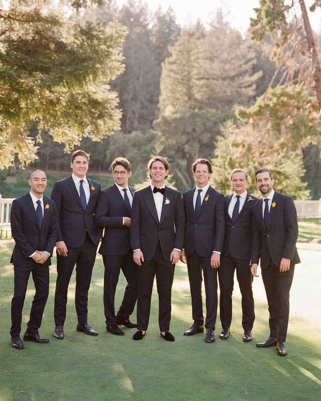 alessa andrew wedding groomsmen
