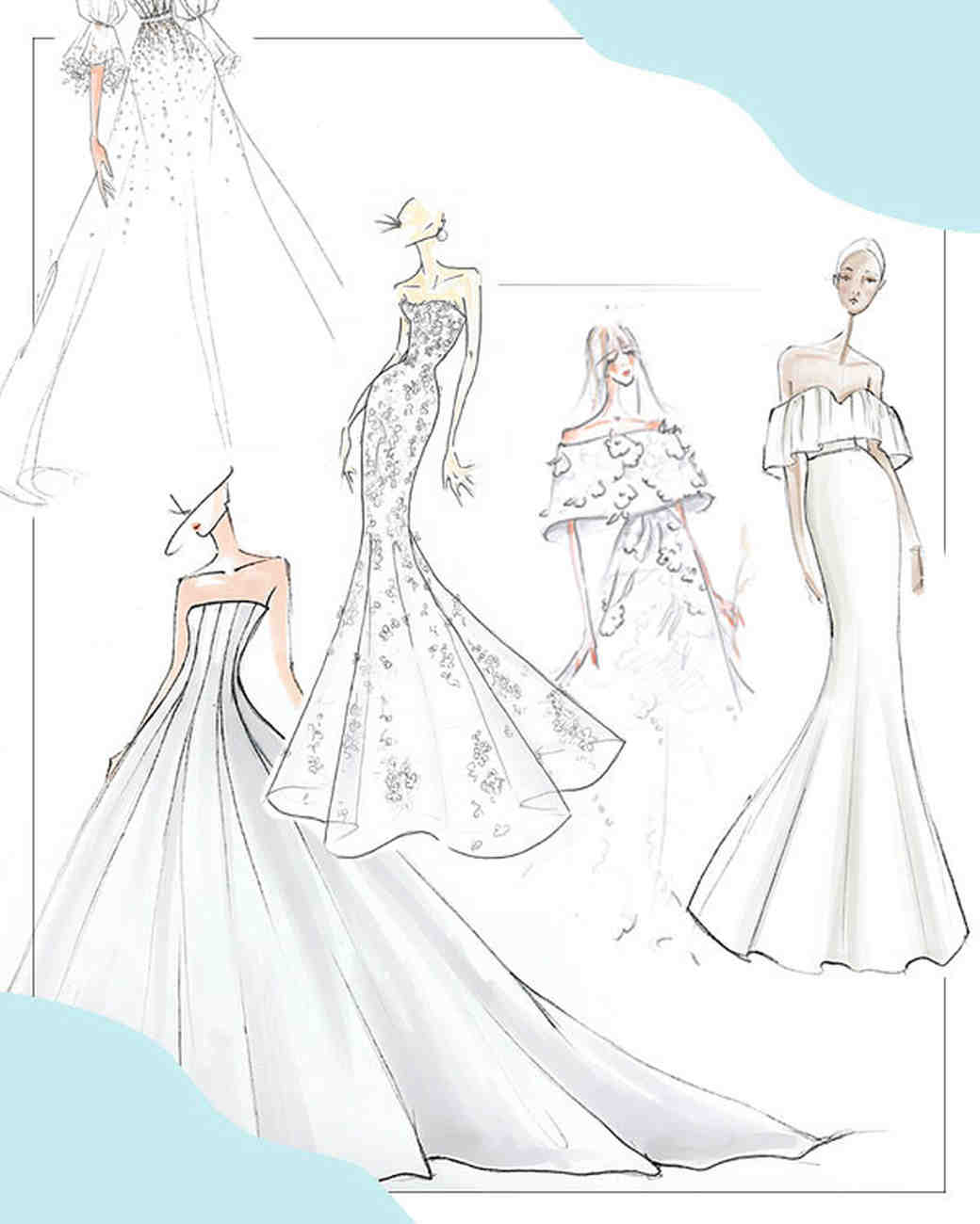 Bridal Fashion Week Fall 2019 Preview Sketches: Fashion Sketches Italian Wedding Dresses At Websimilar.org