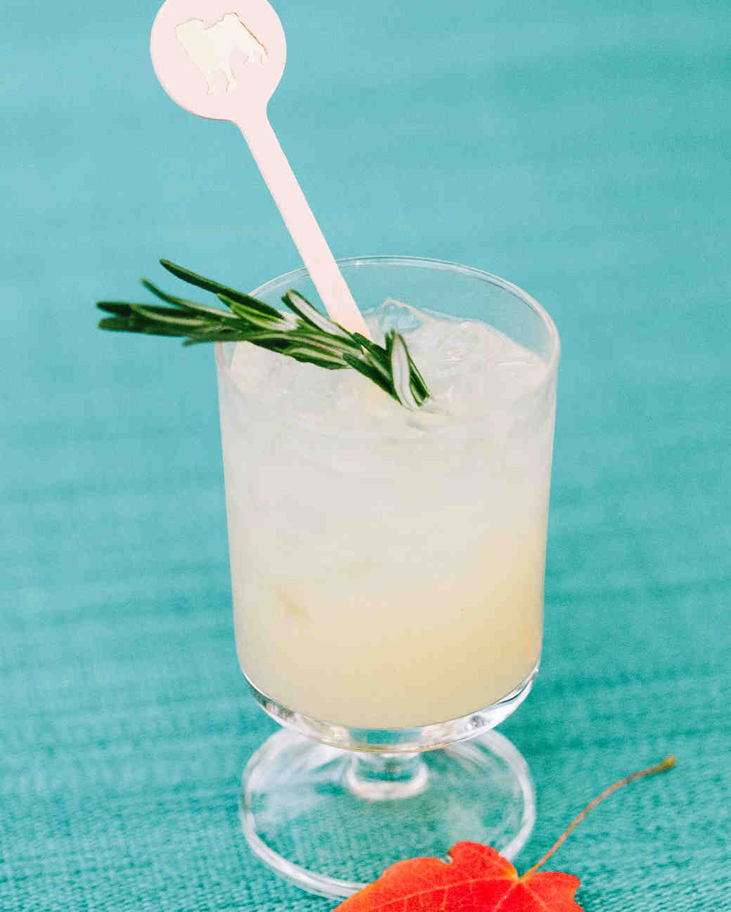 signature wedding drink with stirrer