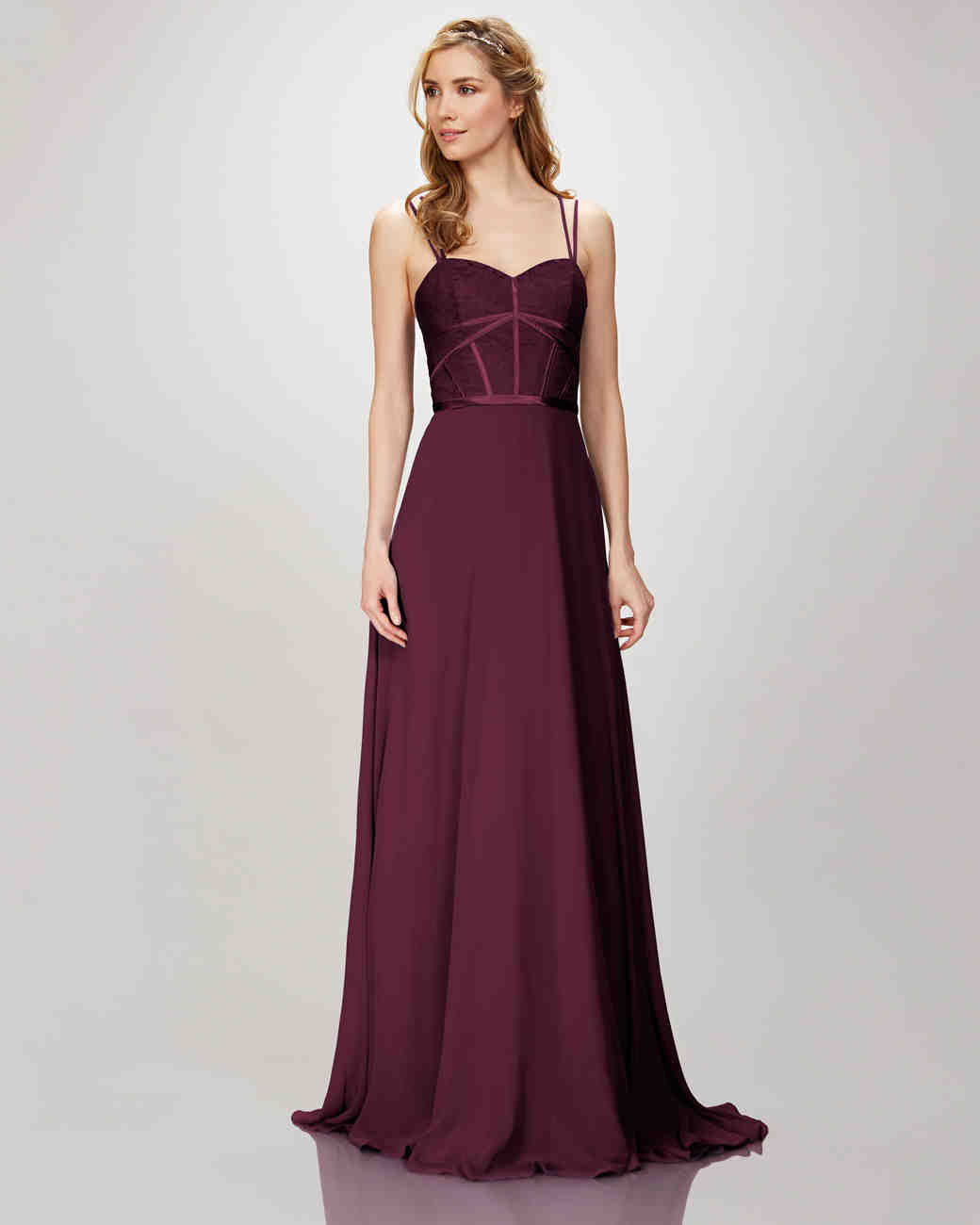 "burgundy bridesmaid dress – Theia ""Style 910132 Elena"""