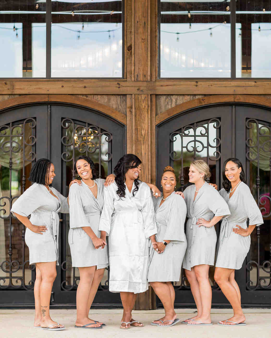 cara chamique wedding bridesmaids in robes