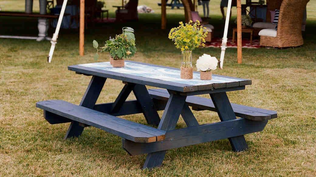 patriotic party blue picnic table tent