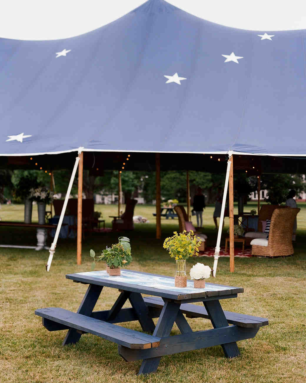 patriotic party blue picnic table tent