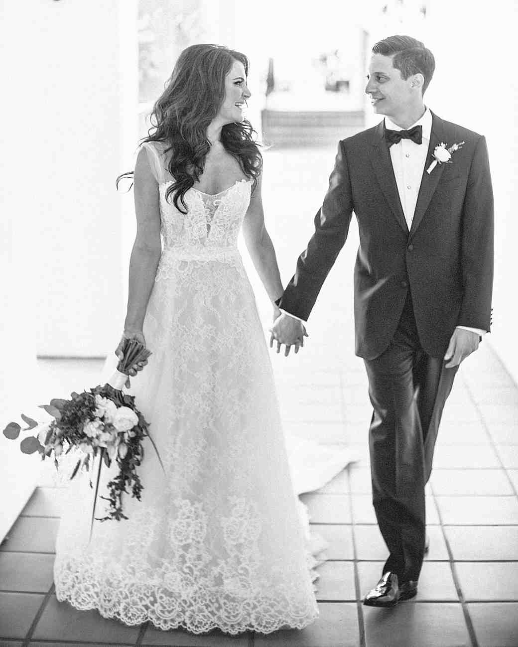 cassandra ben wedding california couple holding hands