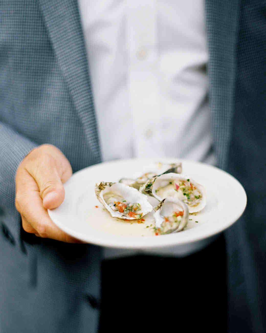 cassandra jason wedding oysters on plate
