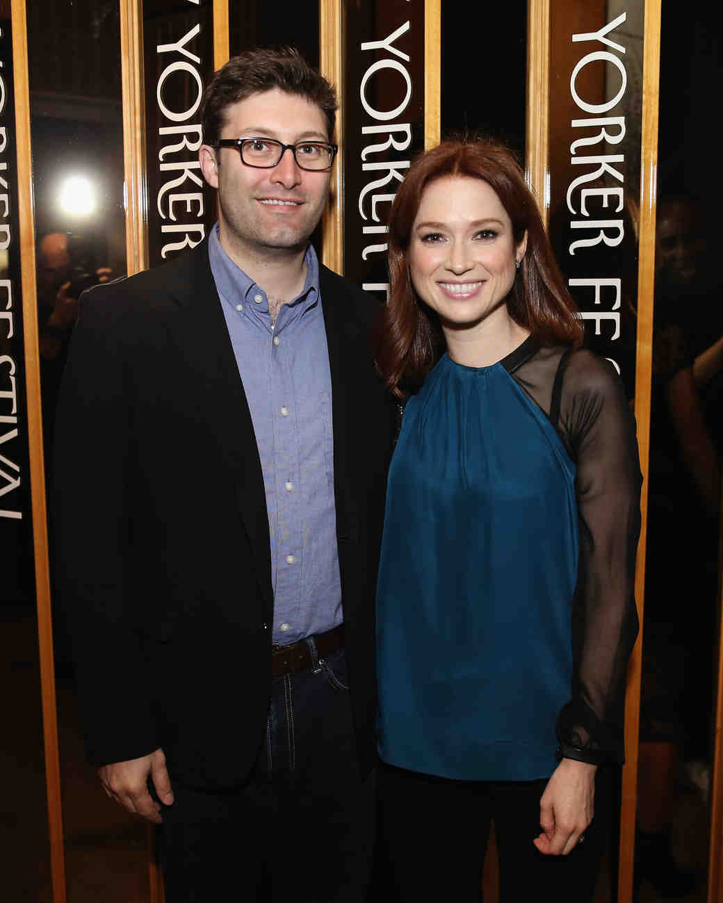 Ellie Kemper and Michael Koman