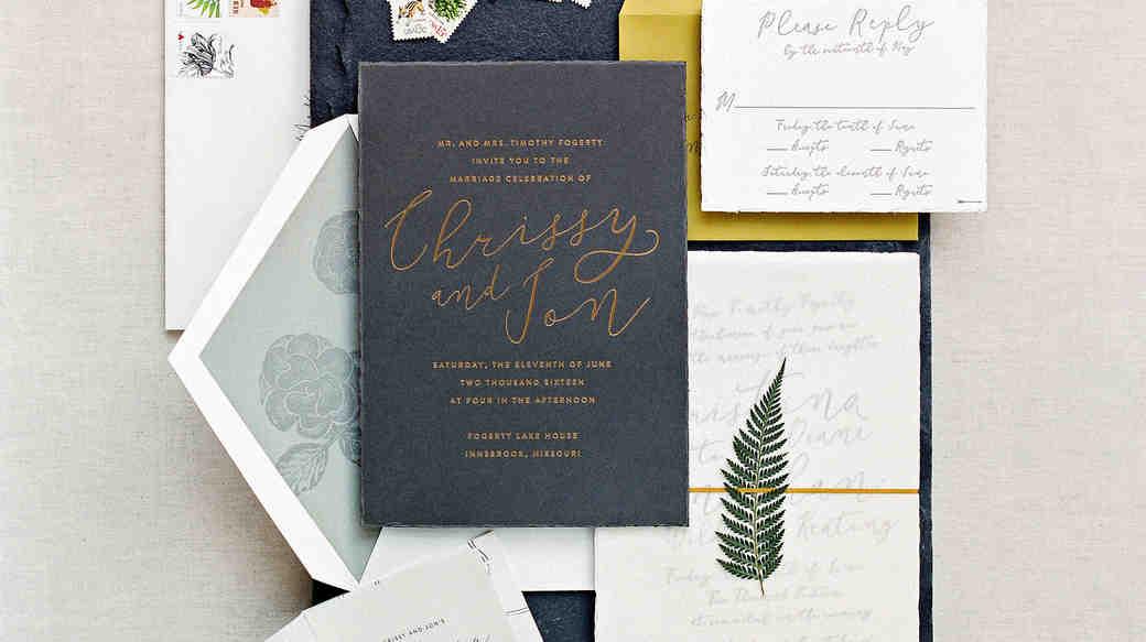 wedding invitations | martha stewart weddings, Wedding invitations