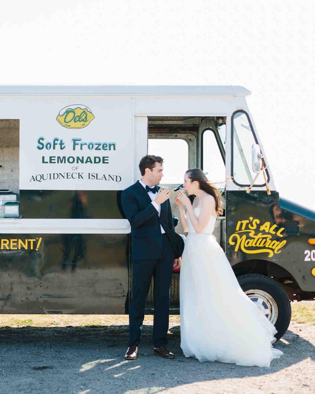 Del's truck at wedding