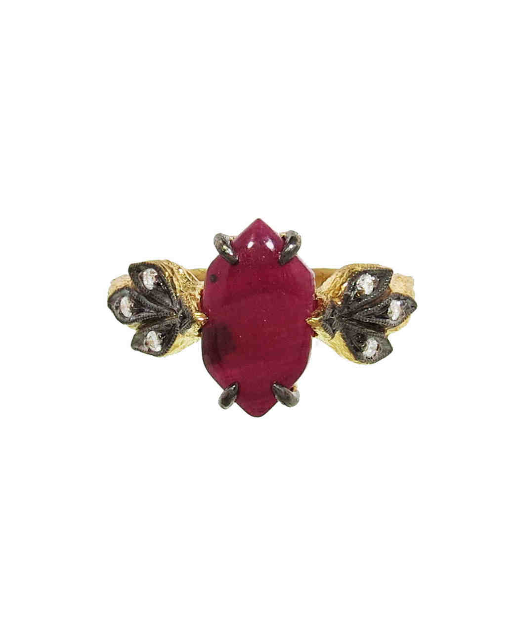 faceted navajo setting maroon frog garnett ring angled product the small with feather rings great