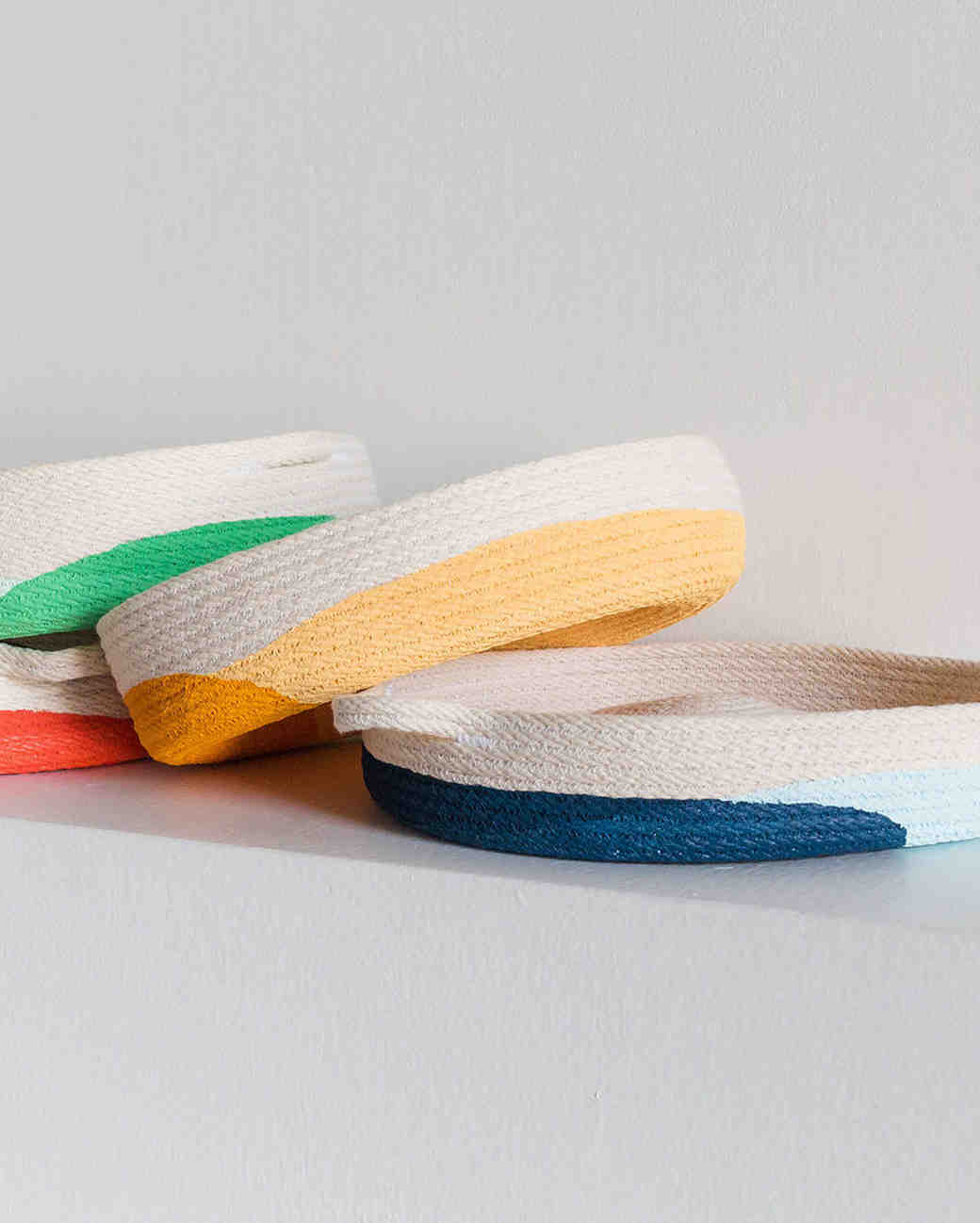 cotton anniversary colorful trays