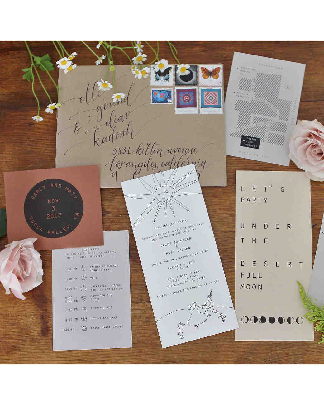 darcy matt wedding invitation