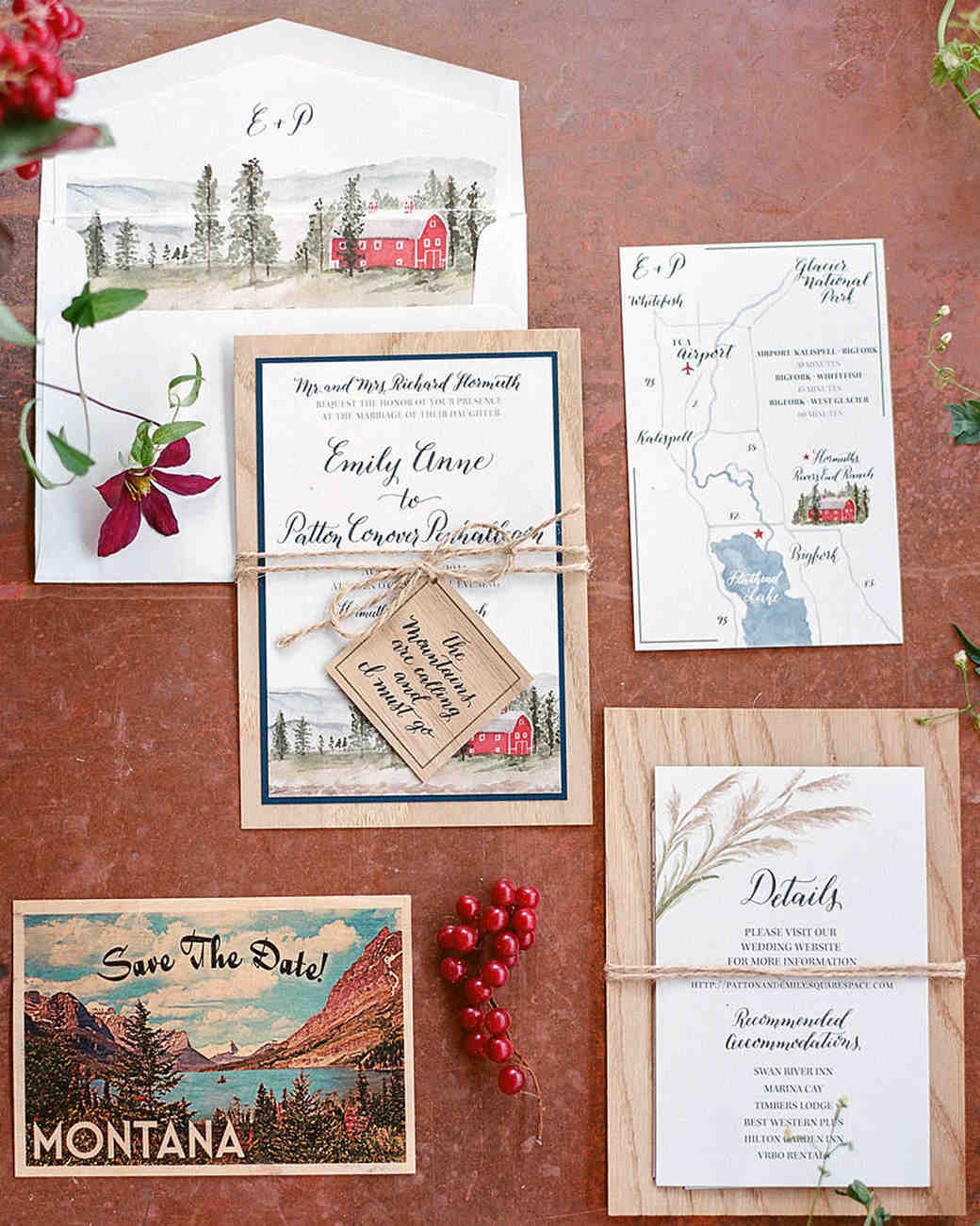 Emily Patton Wedding Montana Stationery: Bird Themed Wedding Invitations At Reisefeber.org
