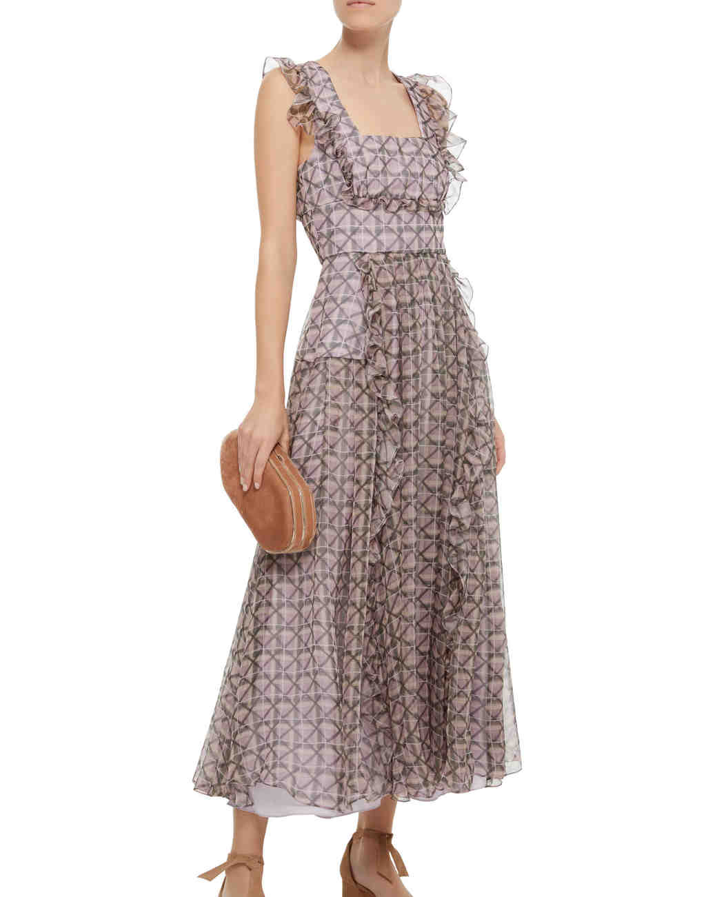 Alexa Chung Engagement Party Dress, Patterned Midi