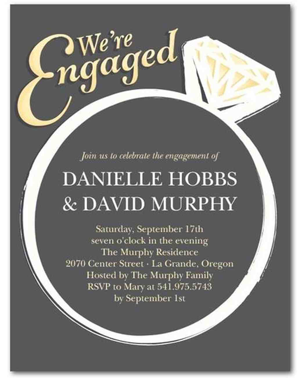 15 engagement party invitations martha stewart weddings