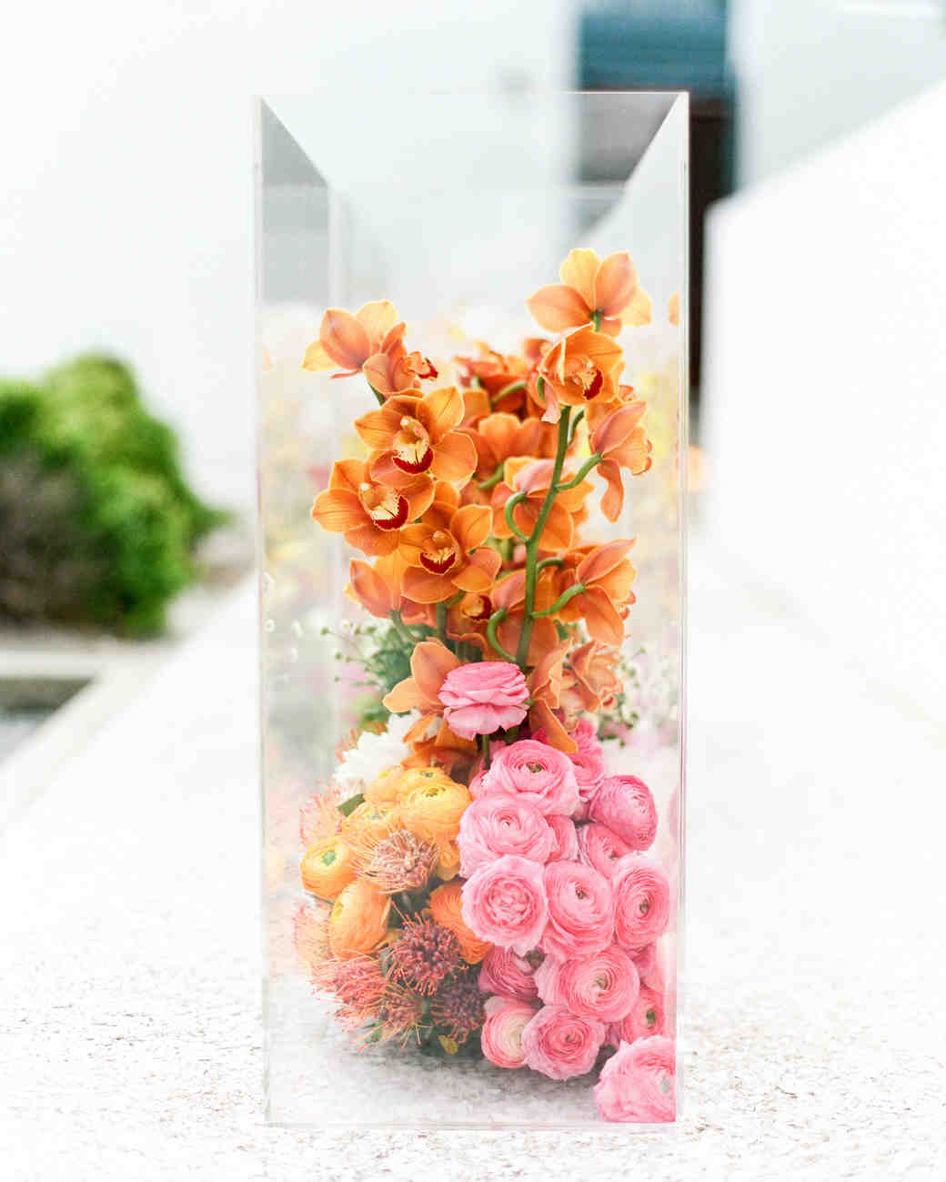 glass centerpiece