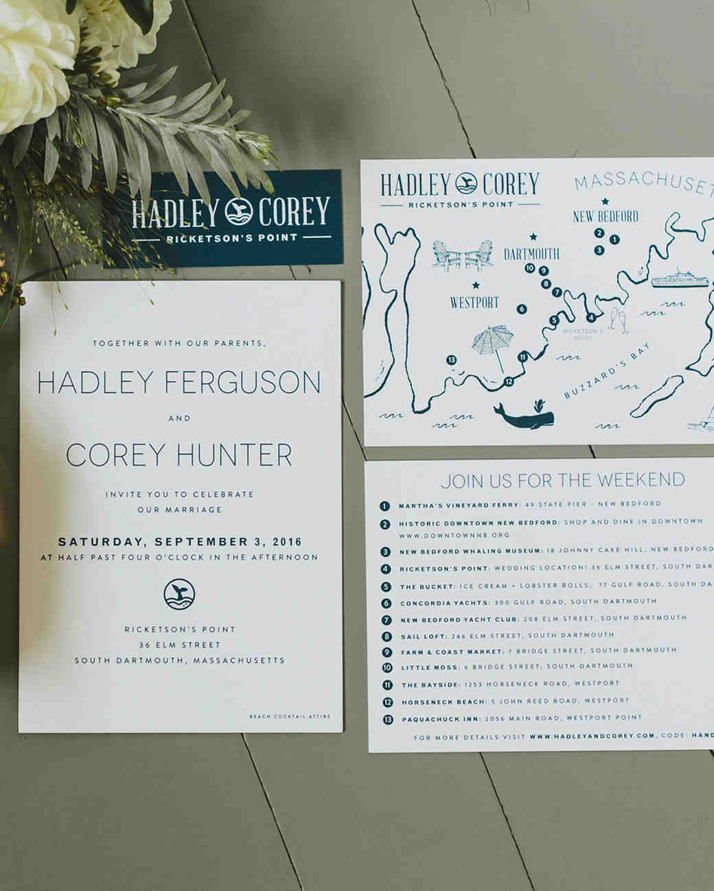 hadley corey wedding stationery