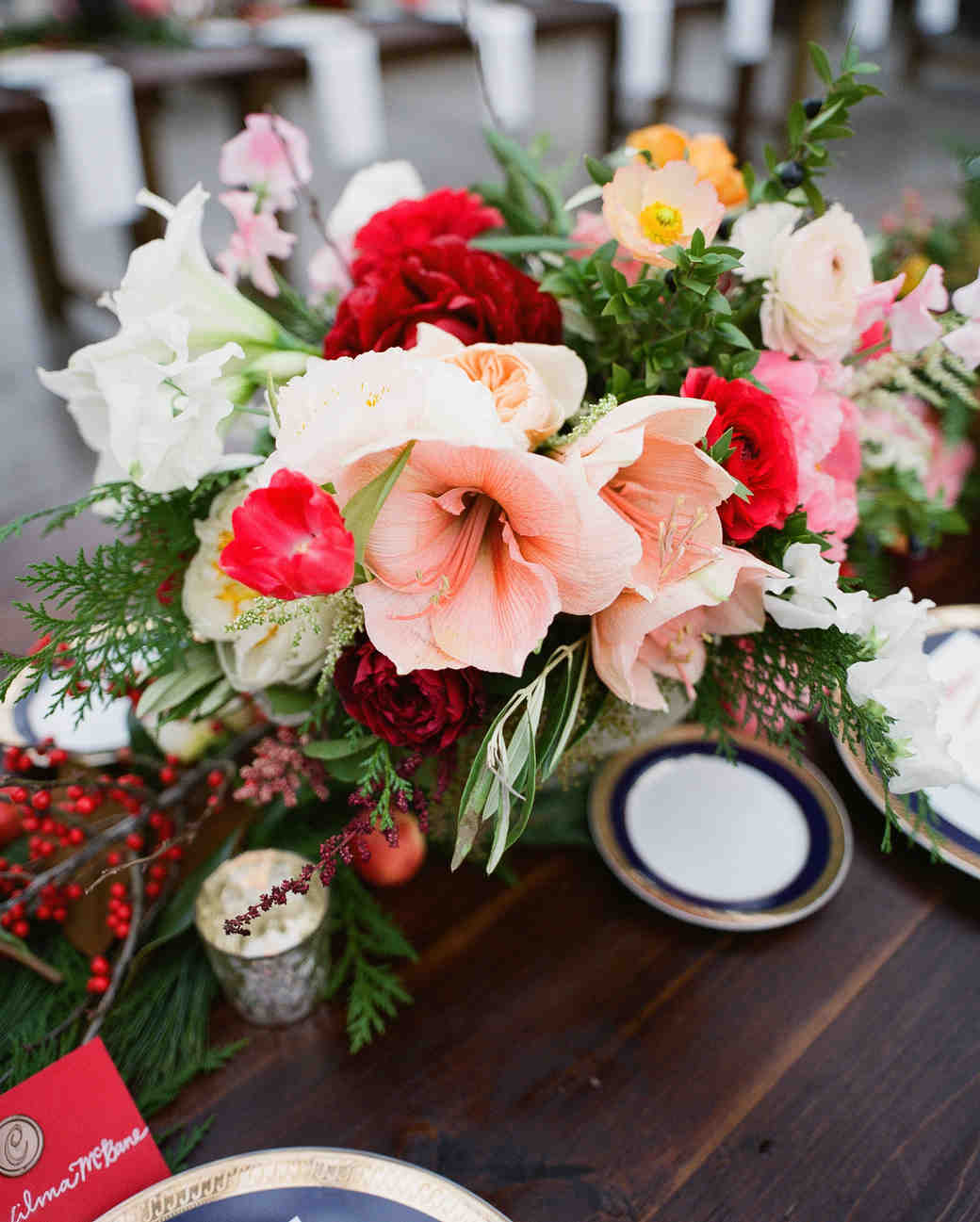 Pink, Wintry Centerpieces