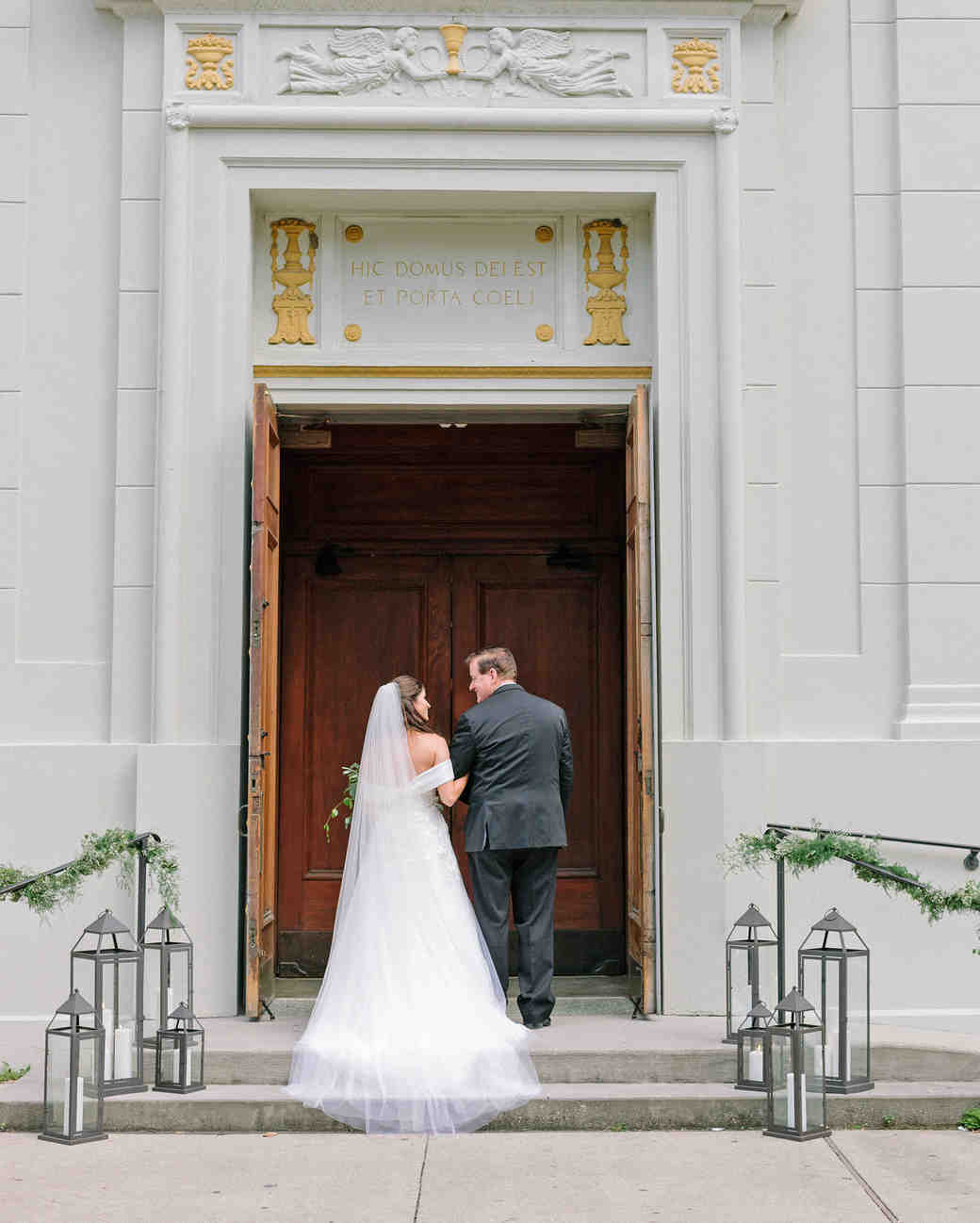 kate austin wedding processional church doorway