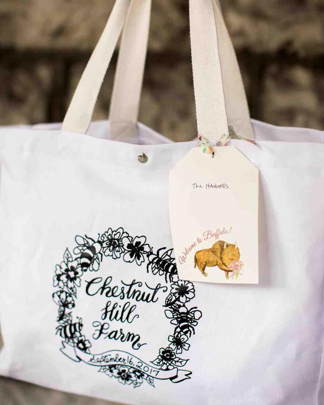 kayla michael wedding welcome bag