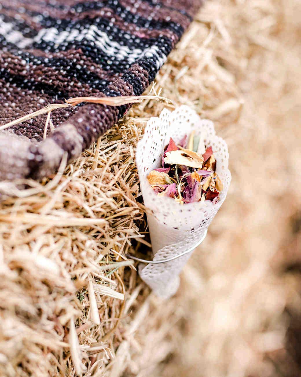 kelly kelsey wedding cone with petals