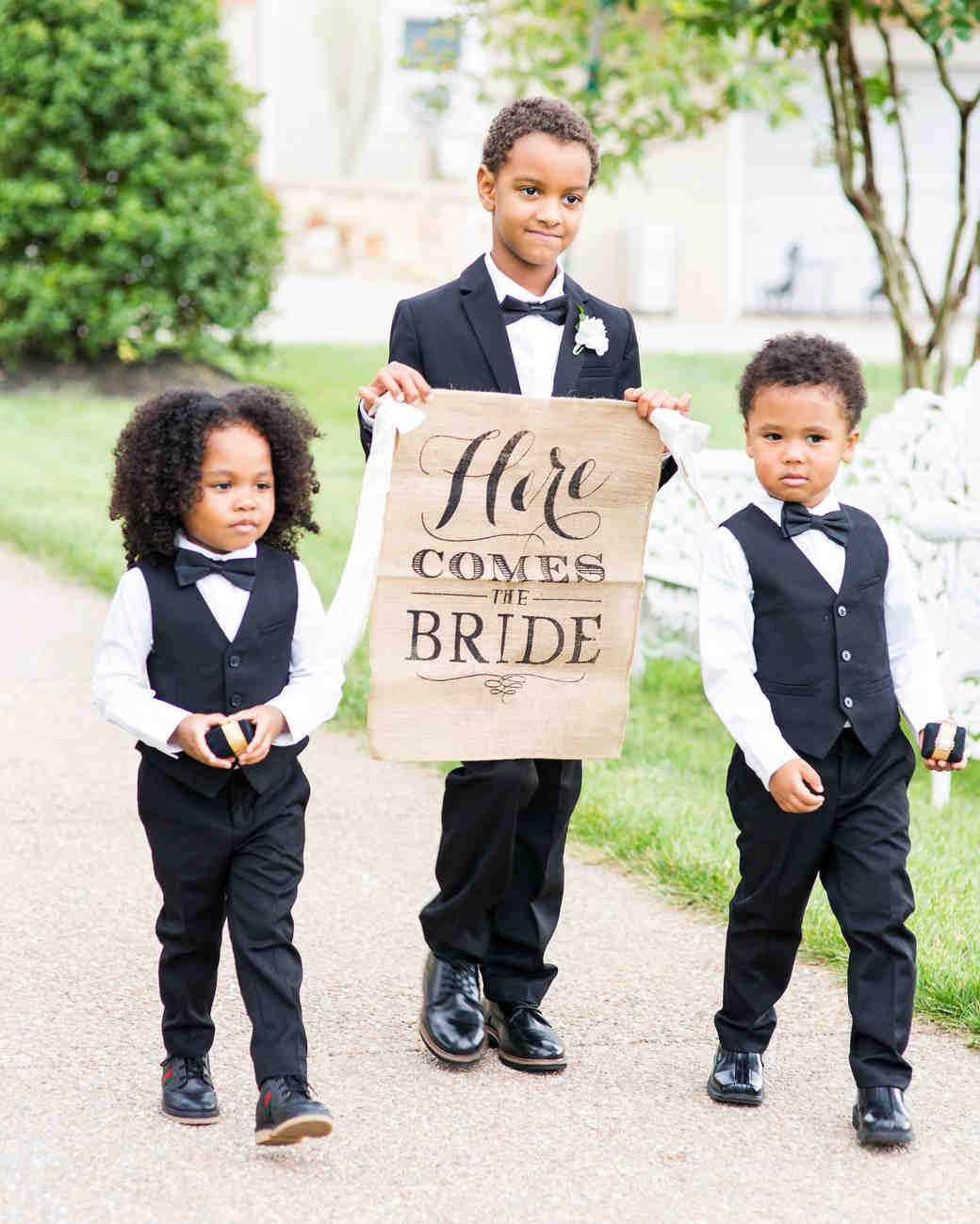 kenisha wendall wedding ring bearers sign