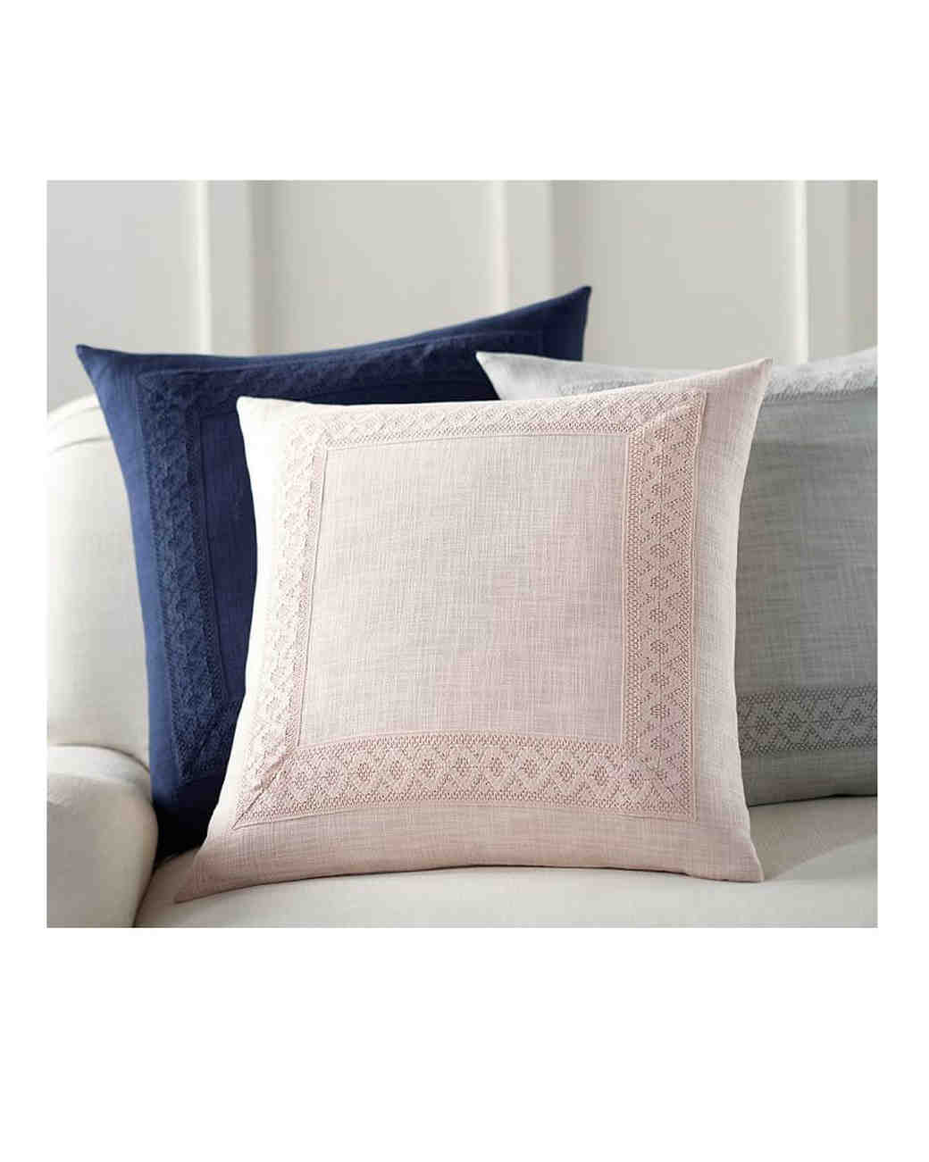 lace anniversary gifts pillows pottery barn