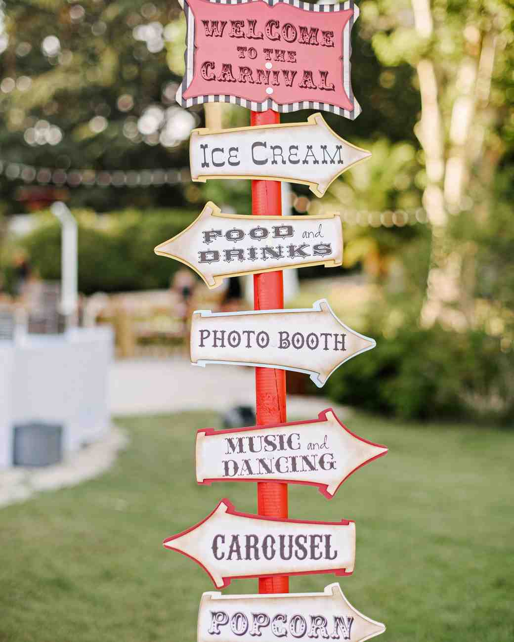 lara kjell circus party signage