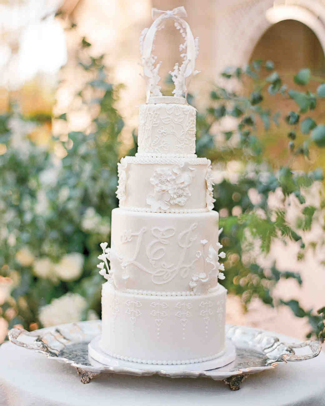 White Royal-Inspired Wedding Cake