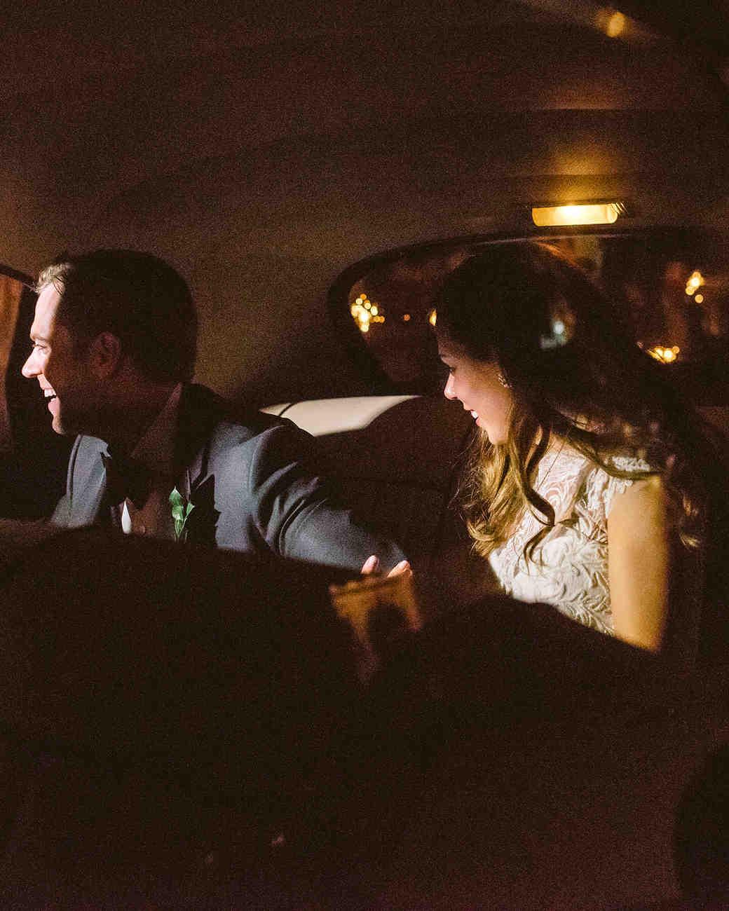 lindsay evan wedding getaway car