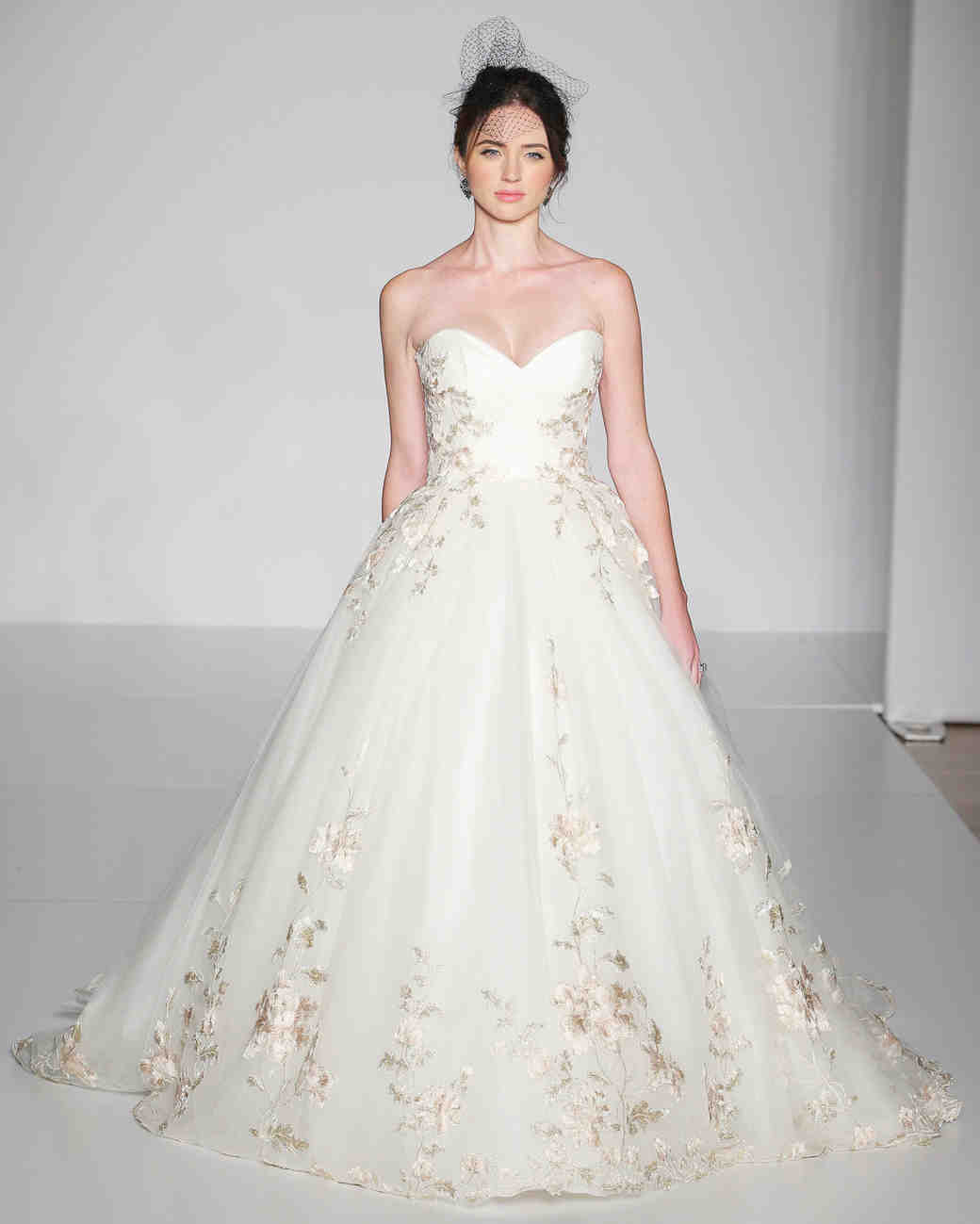 Ultra romantic floral wedding dresses martha stewart for Floral dresses for weddings