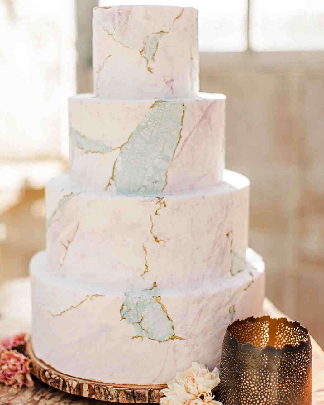 marble wedding ideas crush cakes