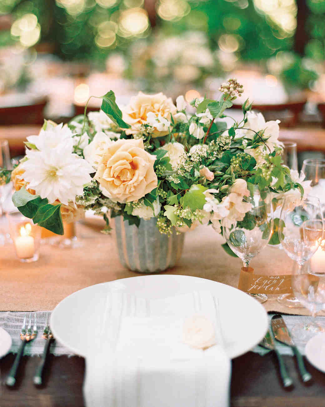 22 totally chic vintage centerpieces martha stewart weddings overflowing centerpiece junglespirit