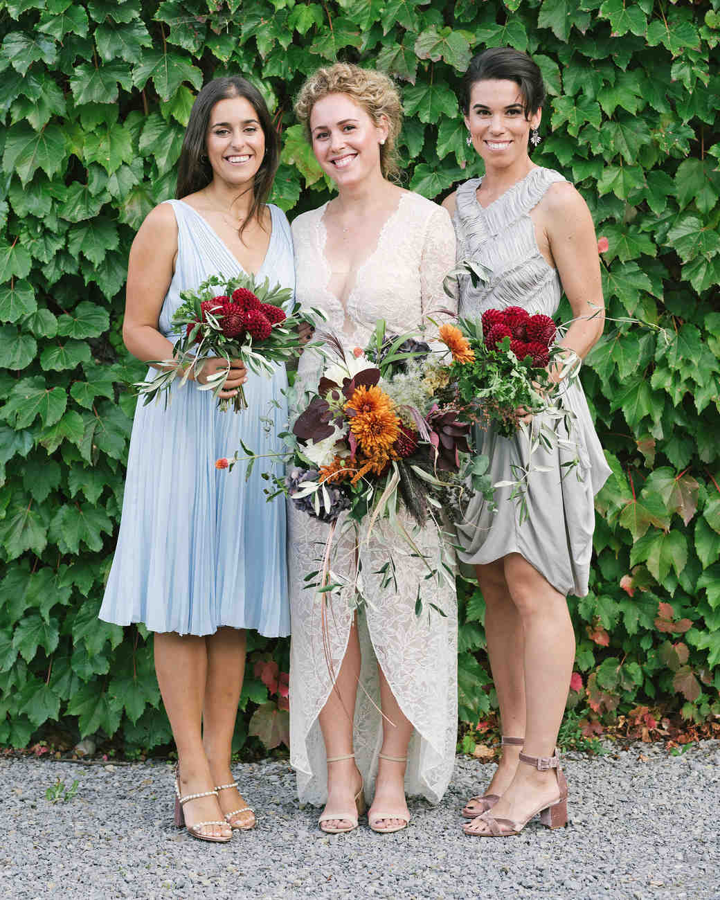molly michael wedding bridesmaids bouquets