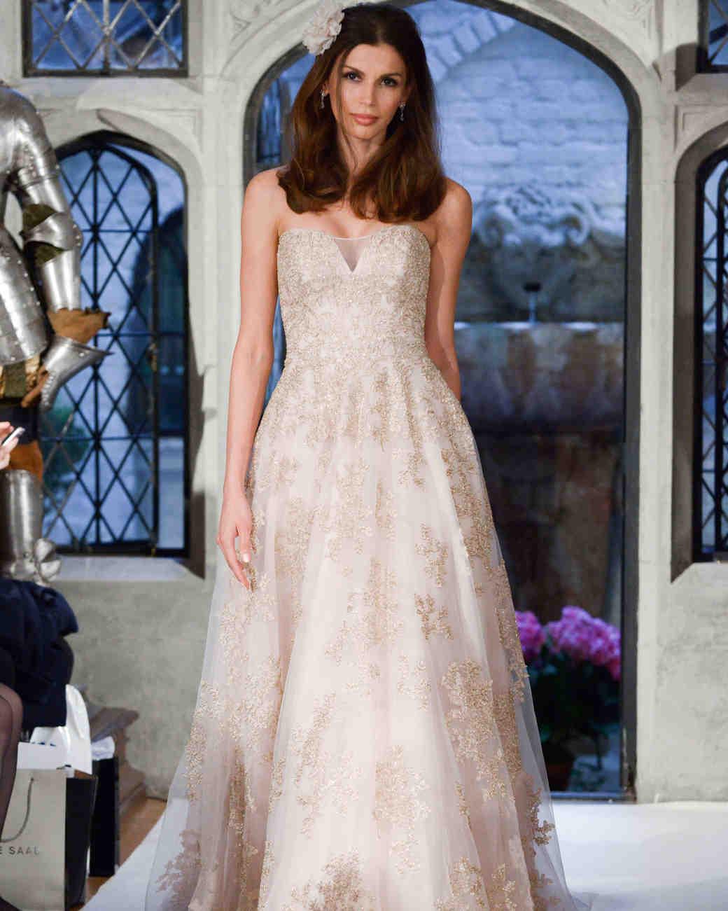 oleg cassini floral overlay wedding dress spring 2018