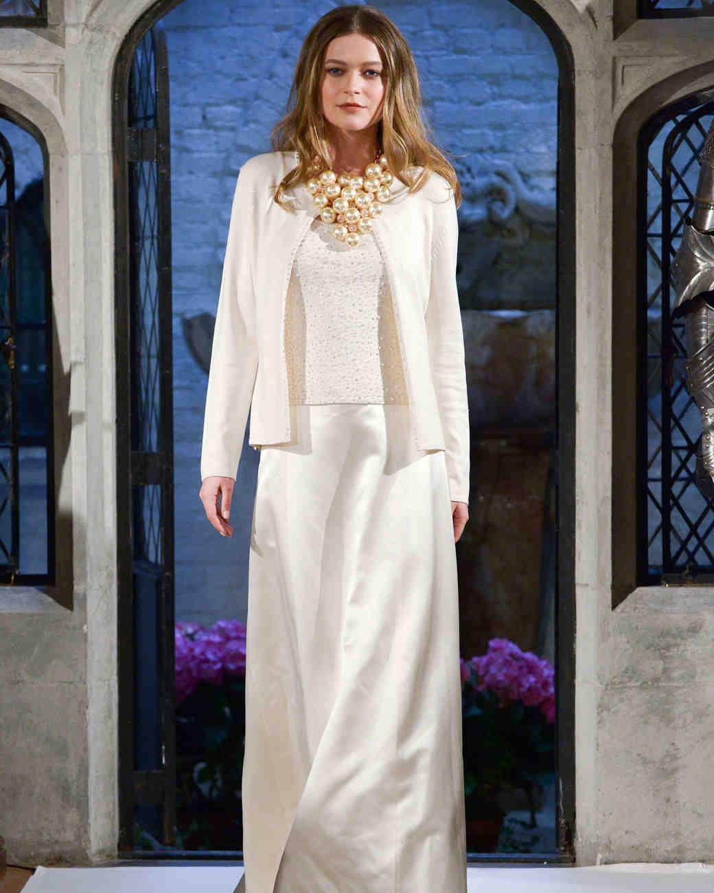oleg cassini jacket wedding dress spring 2018