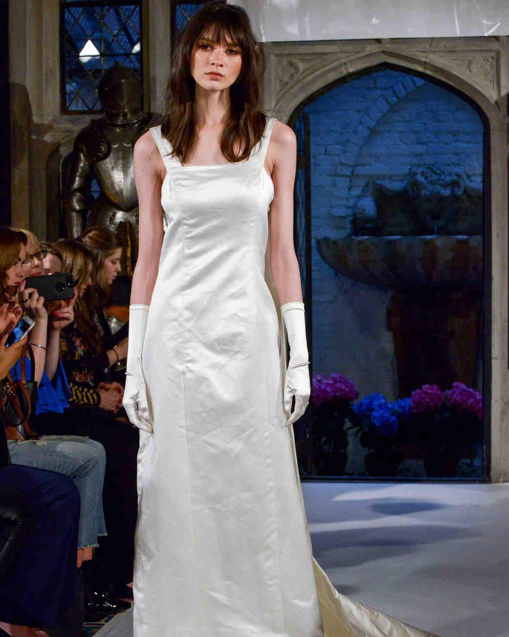 oleg cassini shinny wedding dress spring 2018