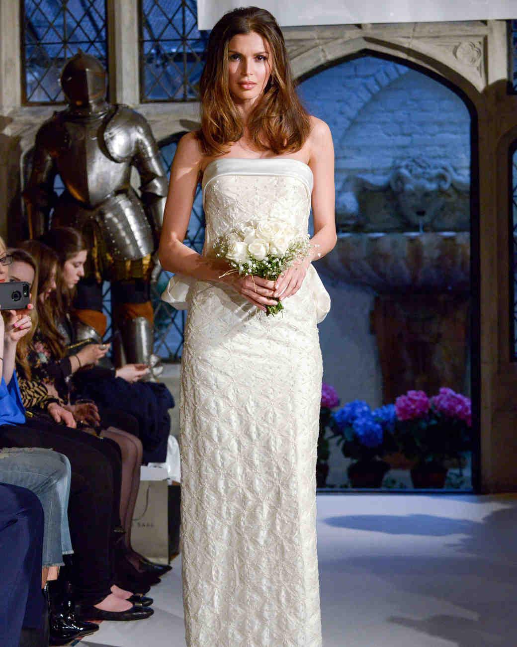 oleg cassini lace strapless wedding dress spring 2018
