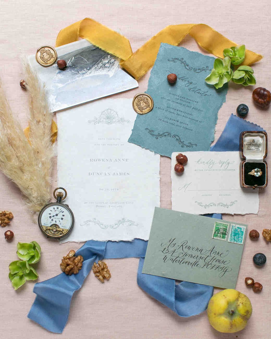 pampas grass ideas stationery flat accent