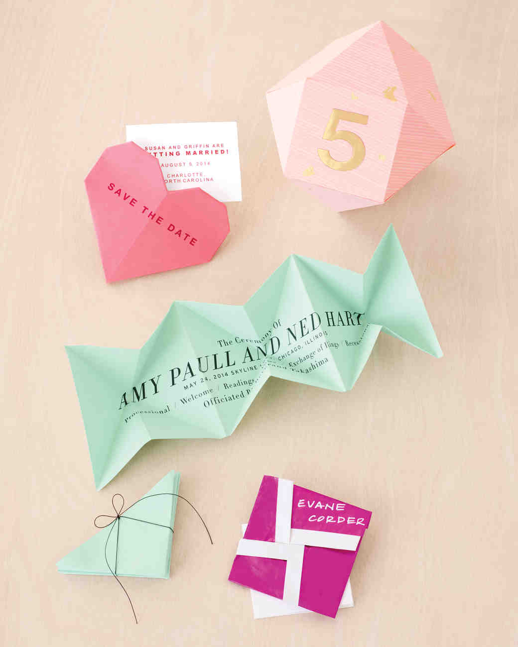10 Diy Origami Ideas For Your Wedding Martha Stewart Weddings