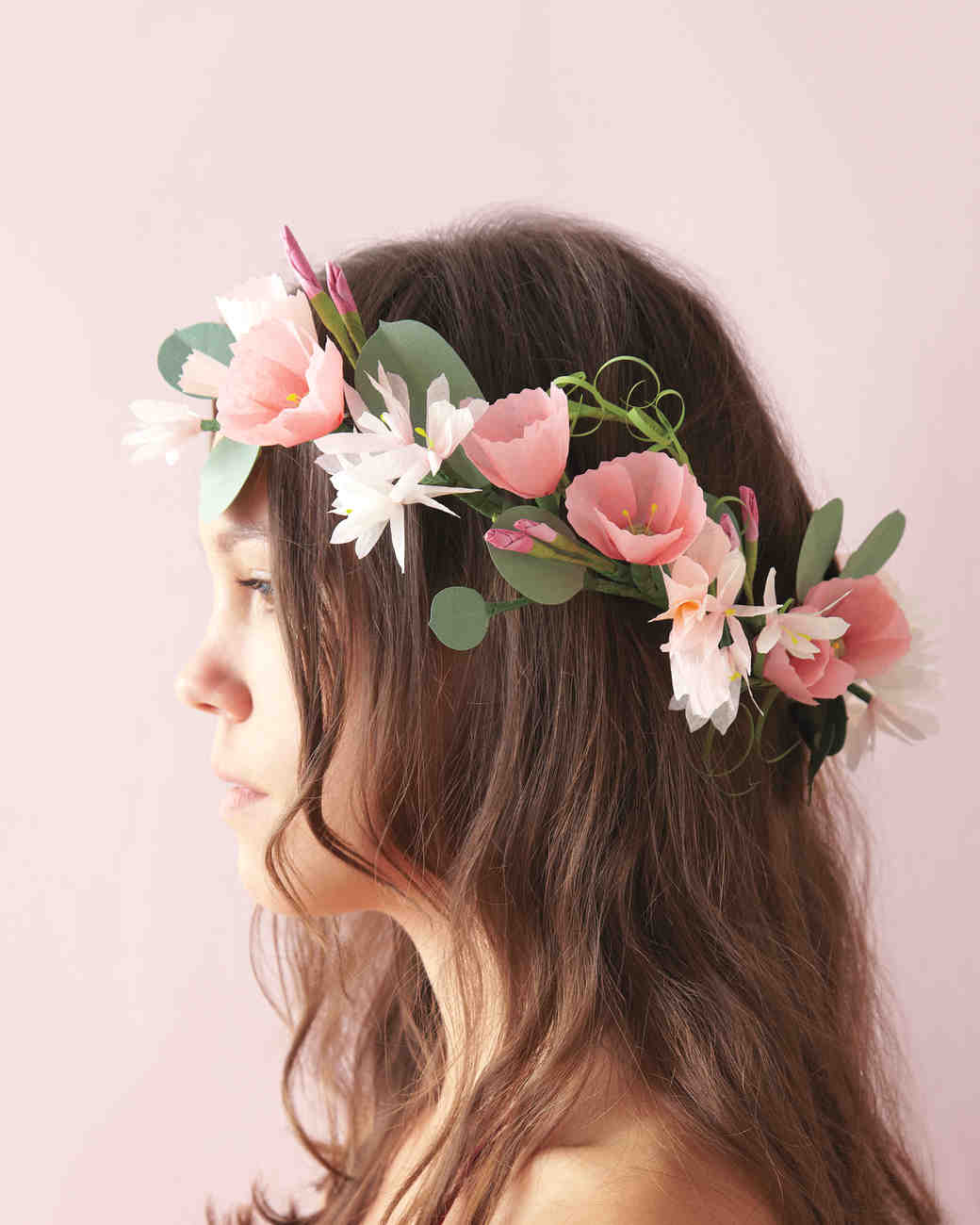 How to make paper flowers martha stewart weddings paper flower crown mightylinksfo