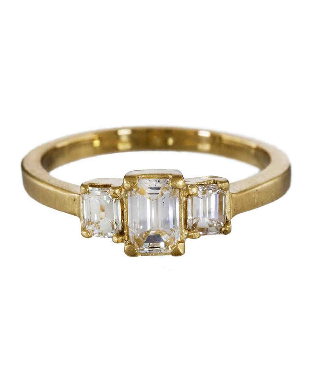 Elegant Emerald Cut Engagement Rings Martha Stewart Weddings