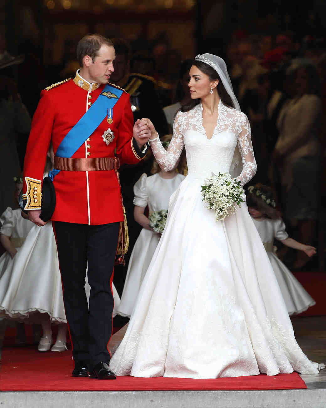 The 15 best royal wedding dresses of all time martha stewart weddings catherine duchess of cambridge junglespirit Images