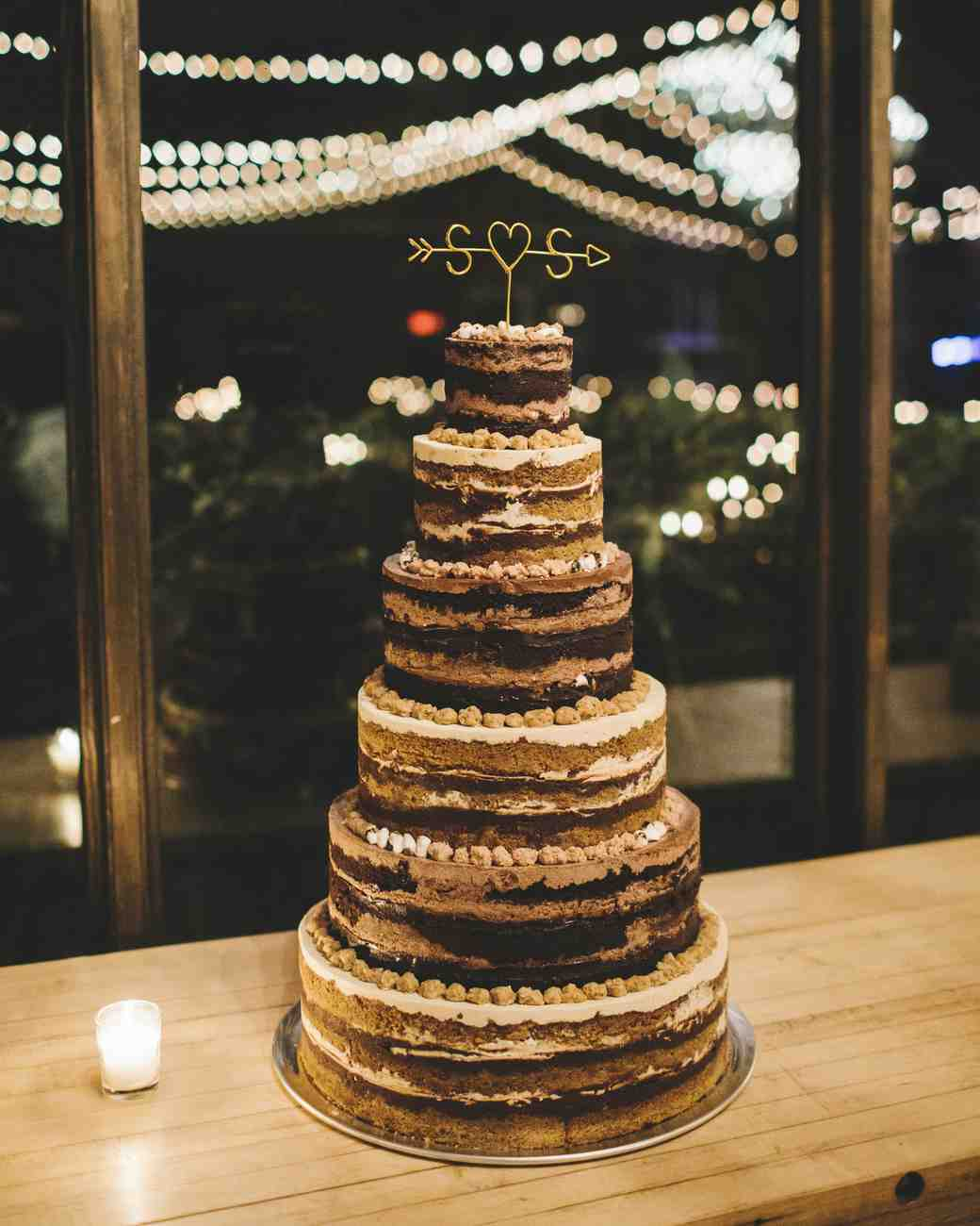 sanjay steven wedding naked cake
