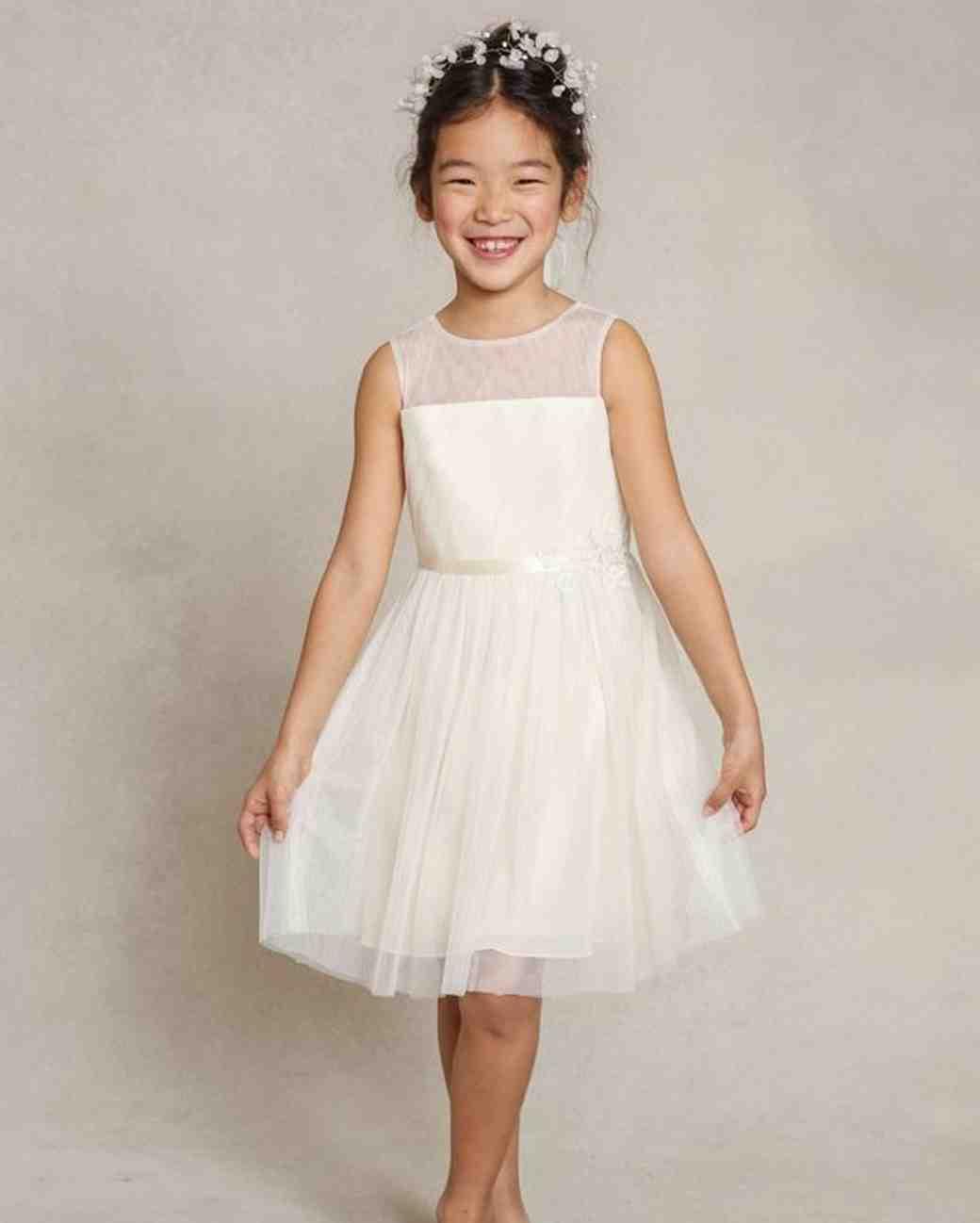 "Sleeveless Flower Girl Dress, Jenny Yoo ""Zoe"""